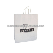cheap recycled white clothes wholesale paper bag