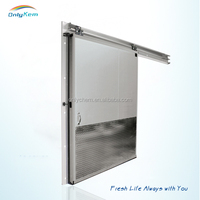 PU Panel cold room sliding door with hinge for freezer room