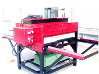 Double stations t-shirt hydraulic heat stamping press machine