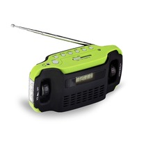 FM/MW/SW Band LED Lights Digital Hand Crank Radio with Mobile Phones Charger