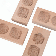 Natural Eco-friendly Hand Carved Wooden Cake Mould Hot Sale