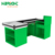 hypermarket retail solution cashier counter with belt cash table register desk