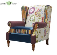 Wooden Material and Living Room Furniture Type royal armchair