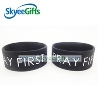 Promotional Personalized Big Size Silicone Wristbands