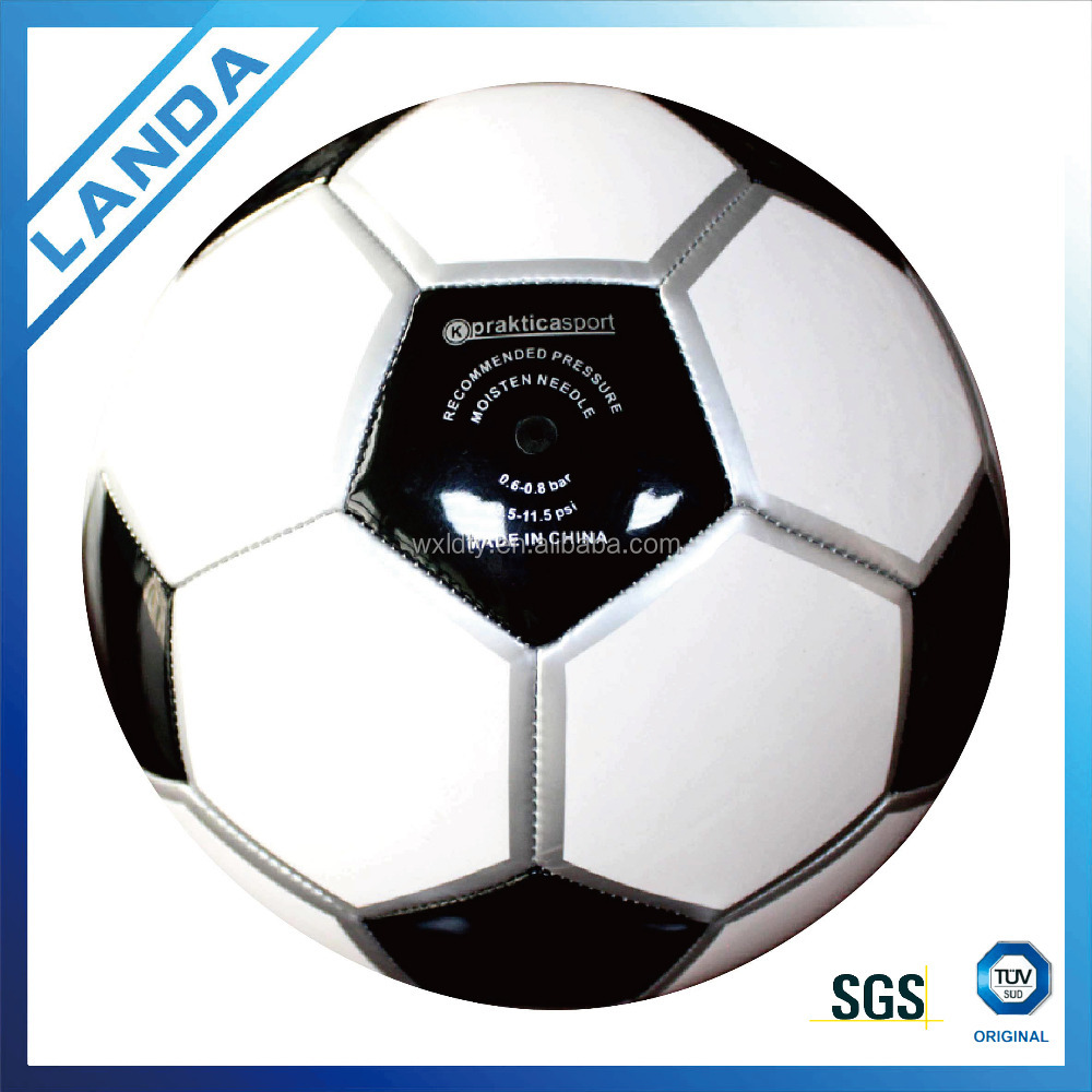 promotion cheap soft PVC machine sititched soccer balls or football