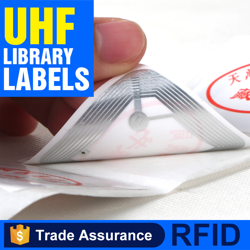 Active 125khz UHF/HF RFID tag label for library book management
