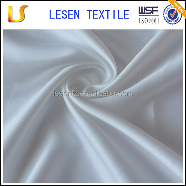 Lesen textile plain dyed 100% polyester twisting satin fabric for bag