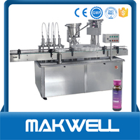 glass bottle washing filling and capping machine with great price