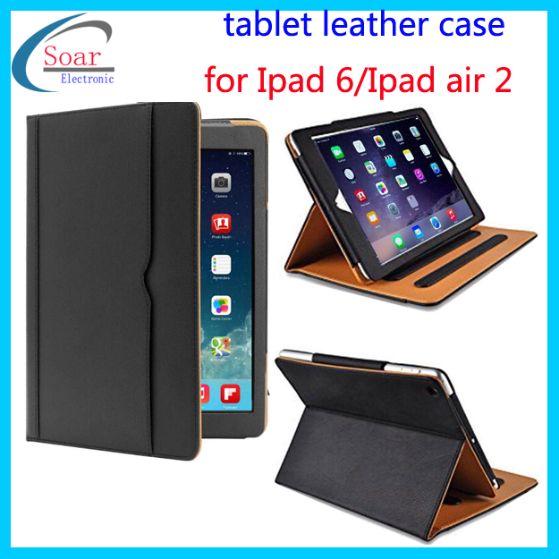 China wholesale top quality Tablet flip leather case for Ipad 6/Ipad air 2