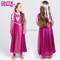 Wholesale new princess pajamas rapunzel nightgown pajamans 3-12years girls sleeping dress
