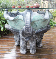 New Style Tea Table Aquariums with Elephant Statue