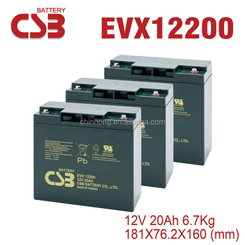 48v20AH CSB EVX12200 electric bike battery