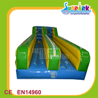Competitive Race Games Inflatable Double Bungee Run for Adults n Kids