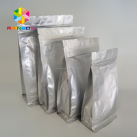 Stand up Flat Bottom pouch Aluminum Foil Bags with zipper 10*20+6cm