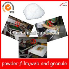 Hot melt adhesives (film,web,powder and granule) for heat transfer printing