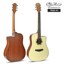 Wholesale guitar 41 inch original spruce wood acoustic electric guitar with pickup for sale