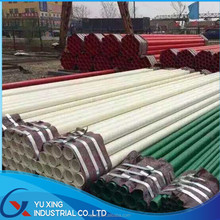 color plastic painted steel tube with inside and outside made in Tianjin ,China