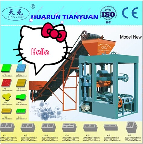 Factory Supplier 4-26 color paver block making machine