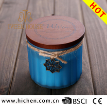 Cheap paraffin wax scented jar candle with wooden lid for Valentine's Day