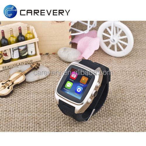 China made 3G android phone call smart watch with sim card slot and camera