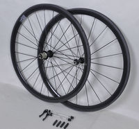 Toray t700 carbon bike wheels tubular , 38*21mm tubular wheelset with 20/24 holes for carbon road bike at best price