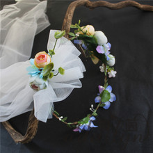 Wholesale plastic flower hair accessories garland for party wedding