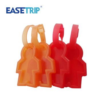 Human Body shape Soft Silicone cool luggage travel tag