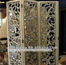 foshan city hand carved folding screen unique carving screen wooden