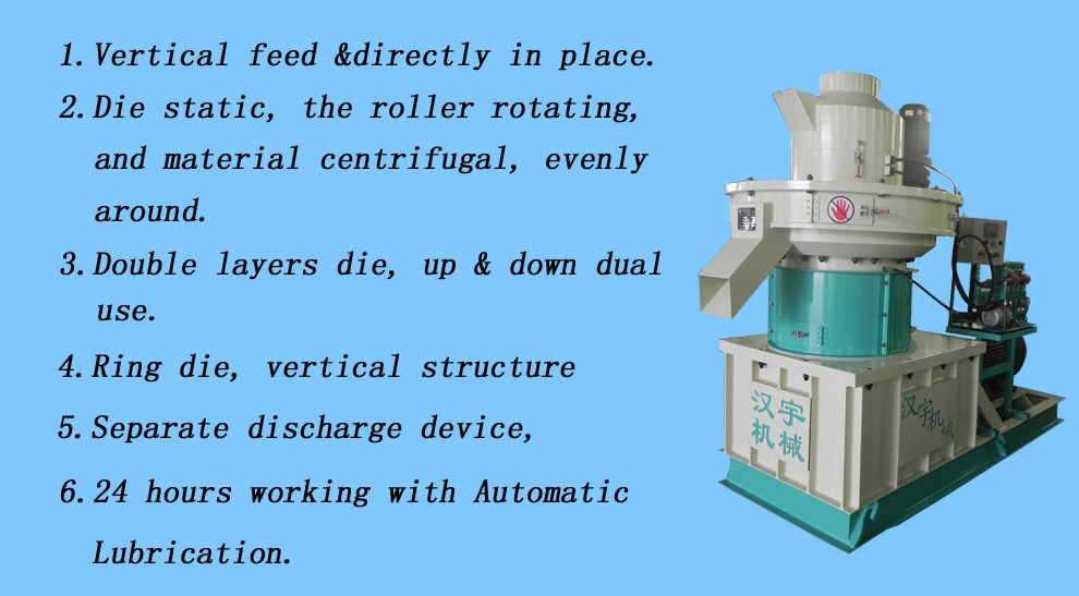 1-1.5T/H wood pellets making machine