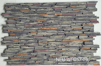 Polyurethane artificial stone wall panel,3D colorful rock panel, exterior decorative wall