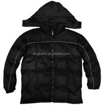 Mens 100% polyester sponge padding jacket