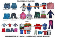 Garments, Apparel, Clothing for Men, Women & Children from Bangladesh