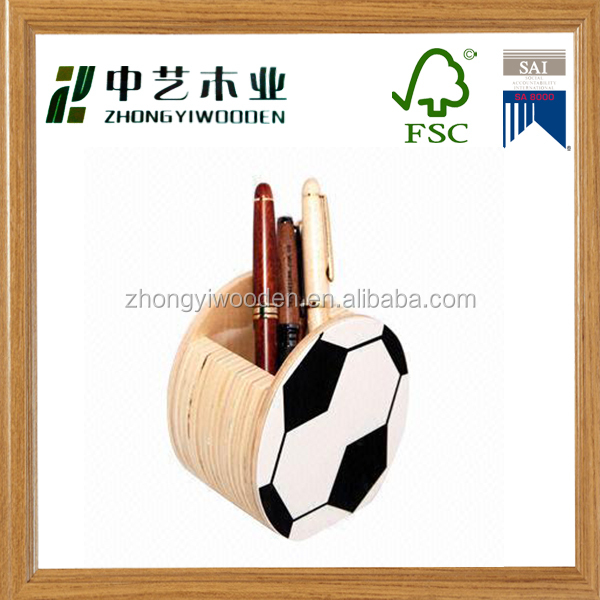 China factory FSC&SA8000 handmade wooden students pen pencil holder for School Office Desktop Organizer
