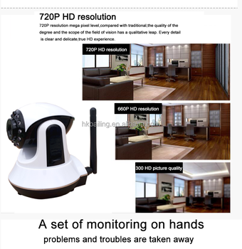 Onvif 720P HD mini wifi camera Alarm System support Webcam Night Vision camera security system