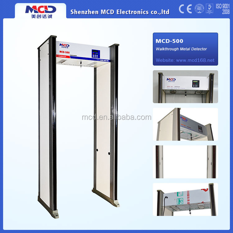 6 Multi Zones Walkthrough Security Metal Detectors for Airport, Government