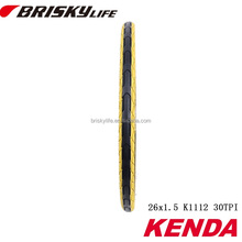 2017 Colored bike tire Kenda tyres solid rubber bicycle tire 26''