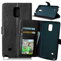For Samsung Galaxy Note 4 N910 Magnetic Flip PU Leather Wallet Case with Photo Frame Card Holder Stand fundas Mobile Phone Cover
