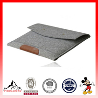 Envelope Style Wool Felt Laptop Case Sleeve Bag for Tablet (ESX-LB082)