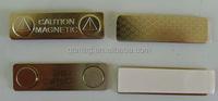 top quality self-adhesive metal magnetic name badges or tags
