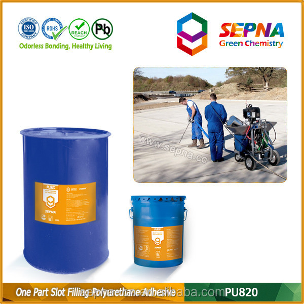 non sagging no bubbles UV resistance acid resistance seal irregularly shaped and spalled joints pu sealant for concrete joints