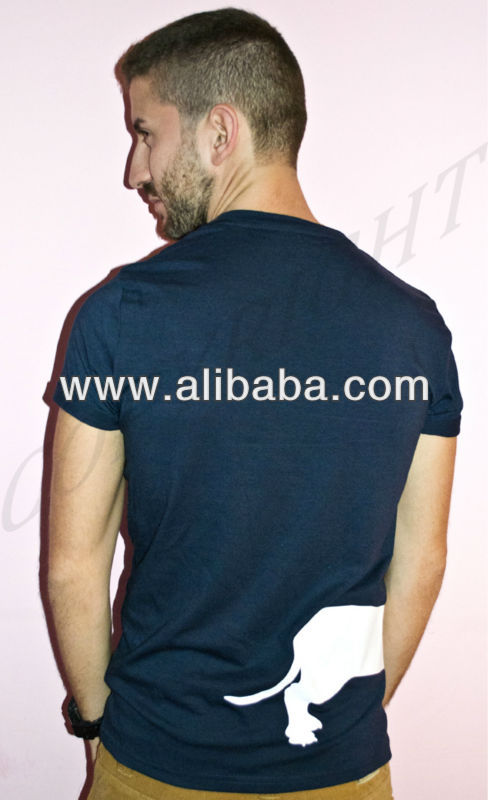 T shirt with dachshund front/rear man round neck