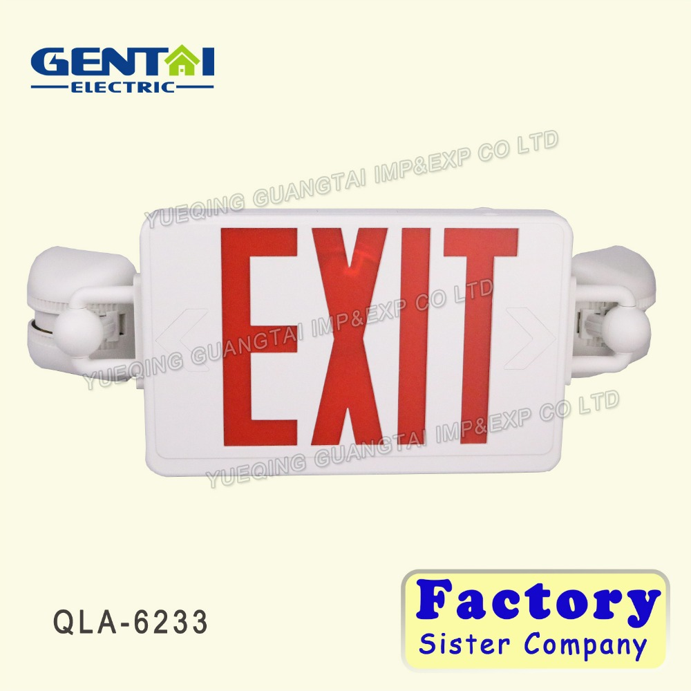 Best sale LED exit& incandescent emergency light 277V led emergency exit signs