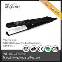 Silk Print Hair Flat Iron 2 in 1 Ceramic Hair Straightener and Curling Iron