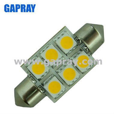 SMD 5050 1W 37mm 12V DC led festoon dome light for caravan