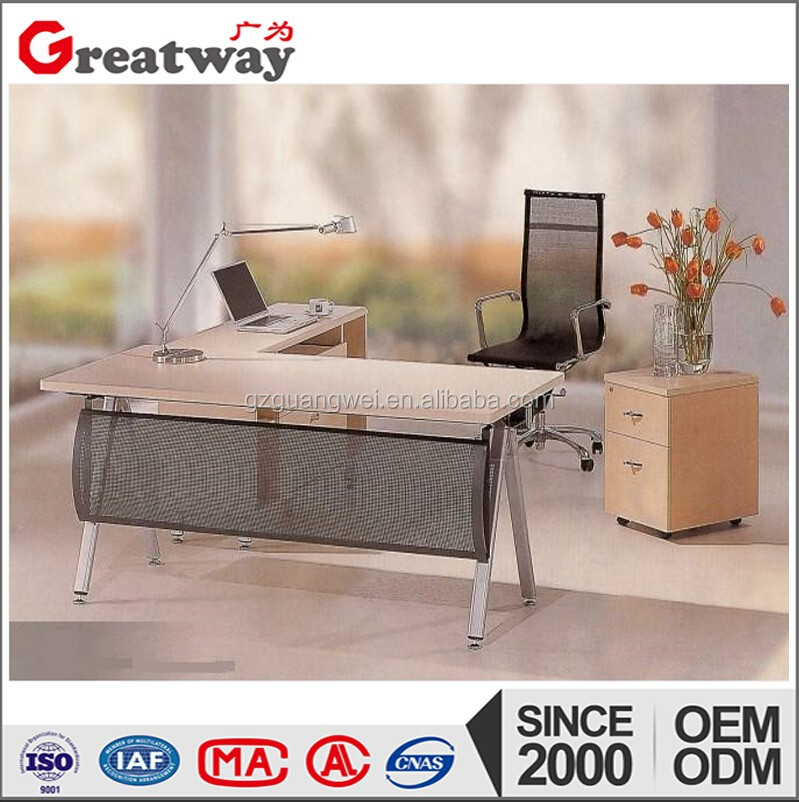 Modern office furniture melamine executive table used with office chairs set