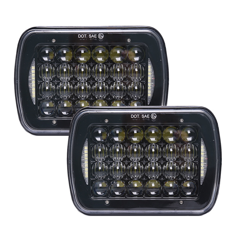 LOYO Newest 72w led truck light 7 inch square 5x7 7x6 led headlight for Jeep, Offroad Trucks, SUVs, 4WD