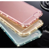 diamond TPU bumper case mobile phone cover for Apple iphone 7 6 5 4 S Plus + A C SE