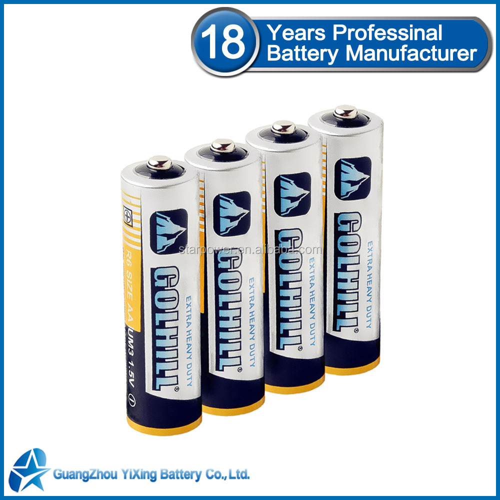 Um3 size aa 1.5v non-rechargeable r6 battery