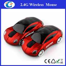 Car Shaped USB Wireless Optical Mouse for Notebook Laptop PC Red New