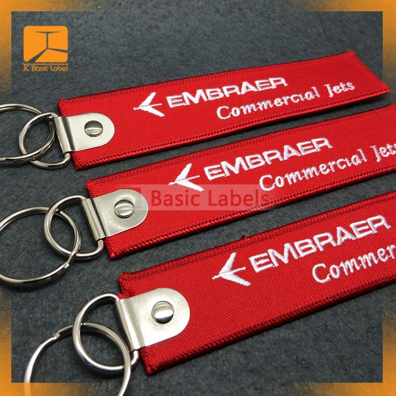 Selling 2014 custom keychain/embroidery design key chain/aviation gifts/Remove befor Flight